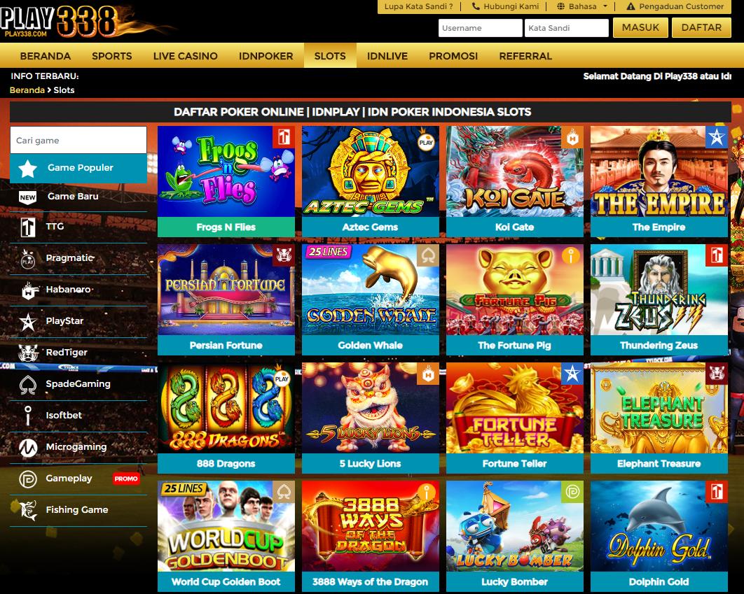Play338 Situs Judi Slot Online Terbesar Dan Terpercaya ...
